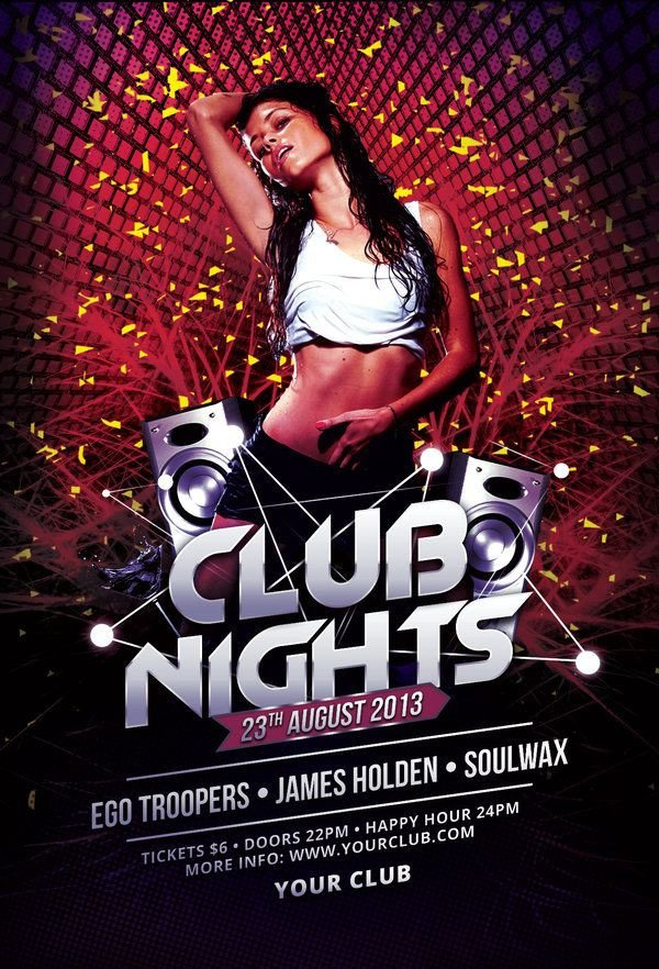 Club Flyer Background Templates 81 Best Club Flyer Templates Images On Pinterest