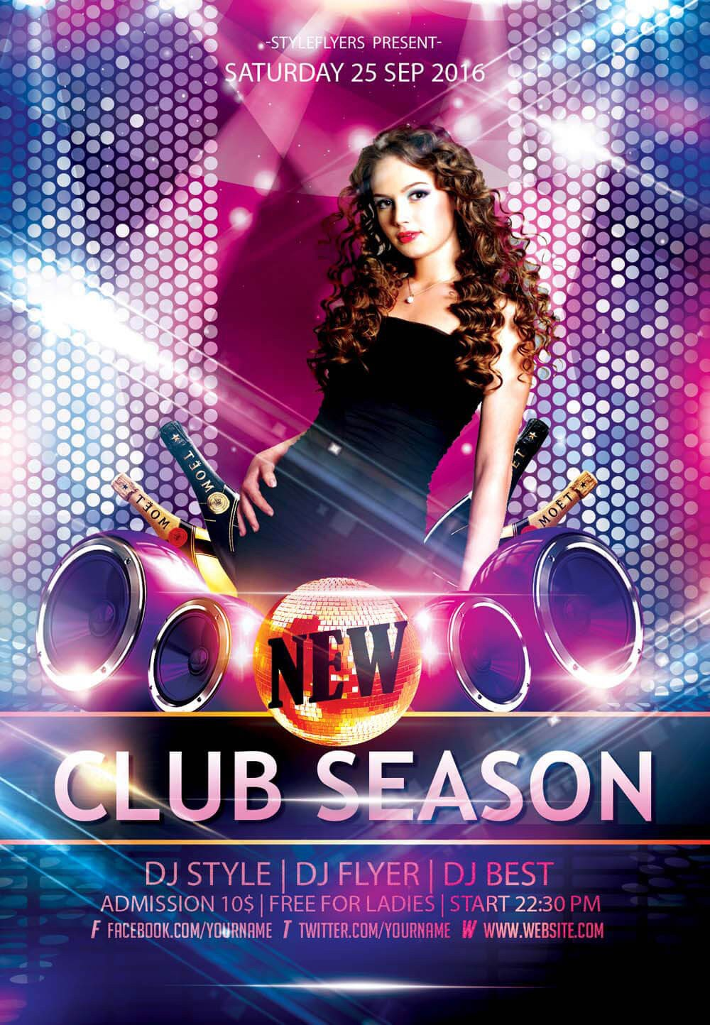 Club Flyer Background Templates New Party Season Free Psd Flyer Templates Graphicsfuel