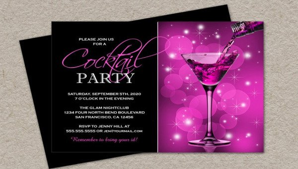 Cocktail Party Invitation Template 21 Cocktail Party Invitations Psd Vector Eps Jpg