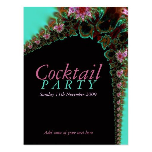 Cocktail Party Invitation Template Cocktail Party Invitation Template Postcard