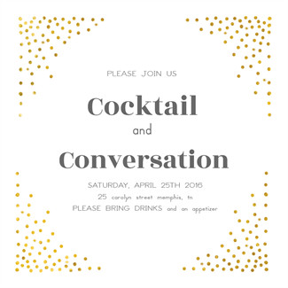 Cocktail Party Invitation Template Free Party Invitation Templates the Grid System