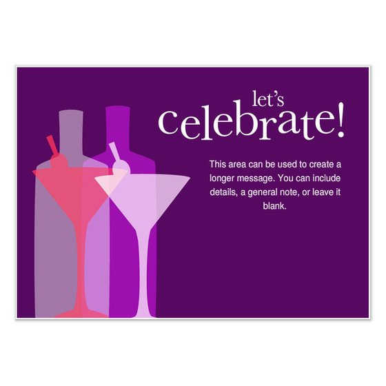 Let s Celebrate Cocktail Party Invitations & Cards on