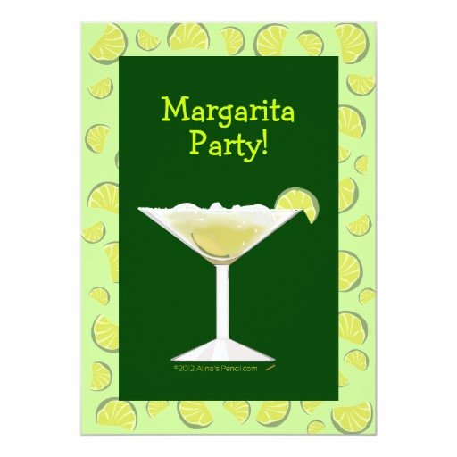 Cocktail Party Invitation Template Margarita Party Cocktail Party Invitation Template
