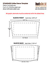 Coffee Sleeve Template Illustrator and shop