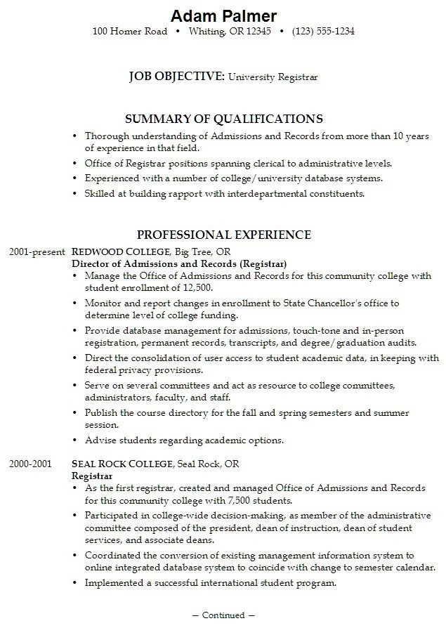 College Admissions Resume Templates 15 College Application Resumes Samples