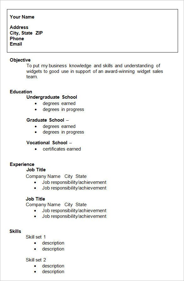 College Admissions Resume Templates 24 Best Student Sample Resume Templates Wisestep