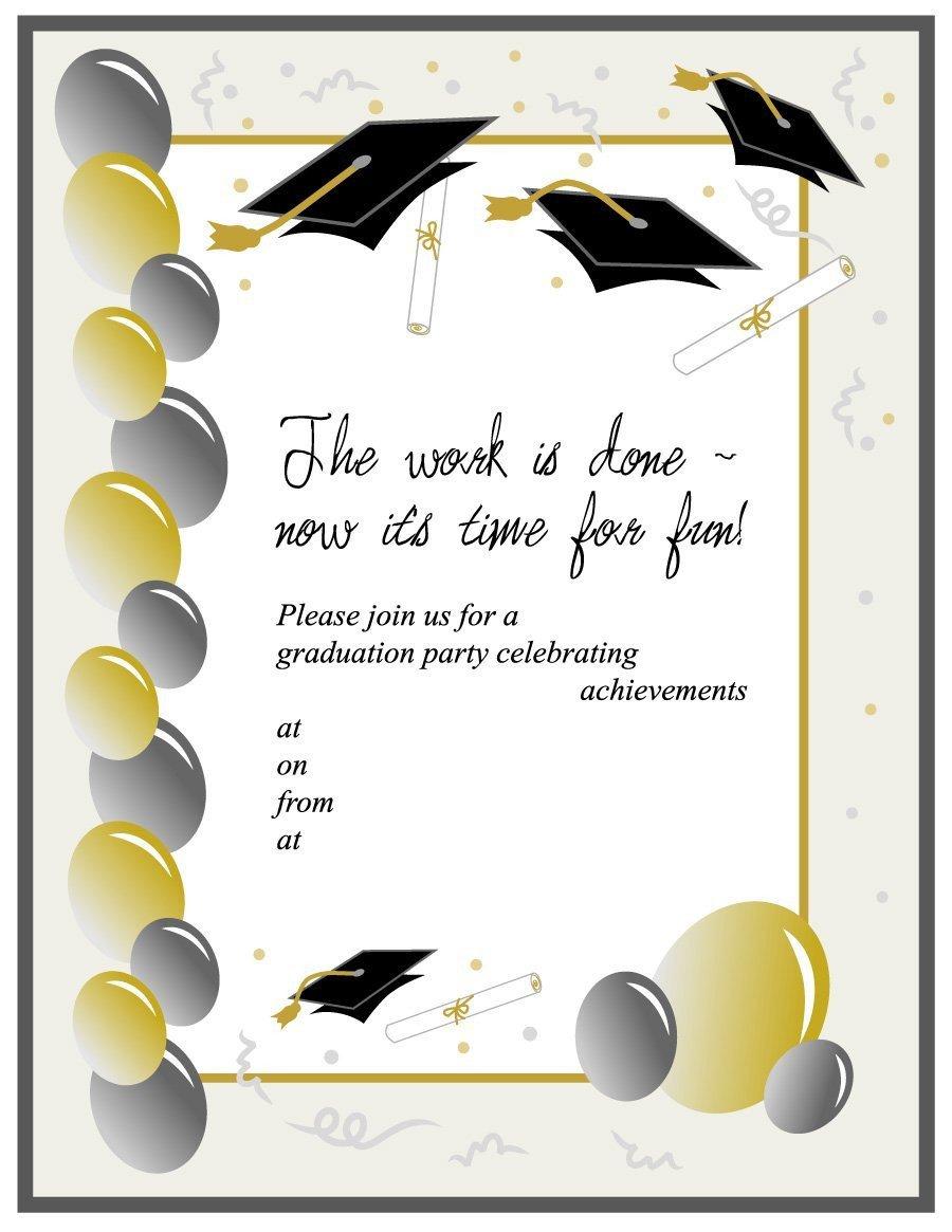 College Graduation Announcements Template 40 Free Graduation Invitation Templates Template Lab