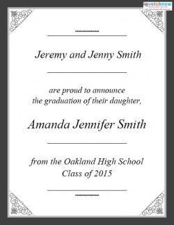 College Graduation Announcements Template Free Printable Graduation Announcements