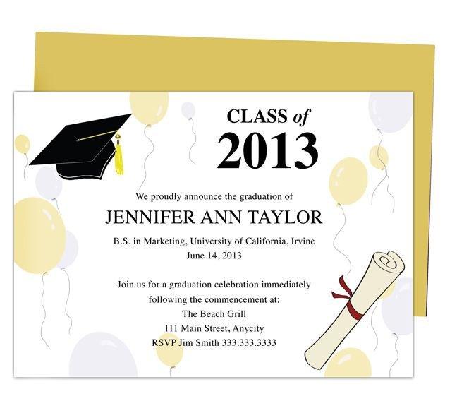 College Graduation Announcements Template Printable Diy Templates for Grad Announcements Partytime