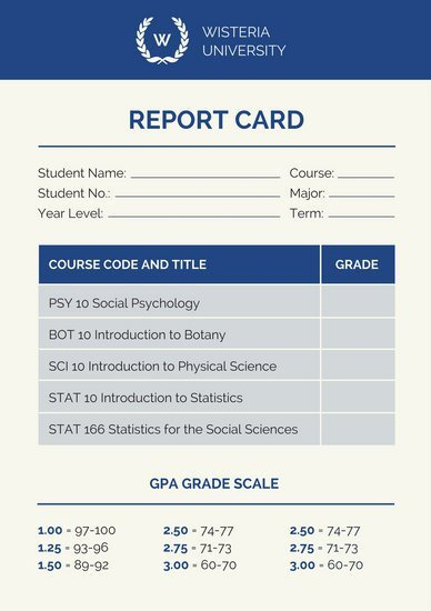 College Report Card Template College Poster Templates Canva