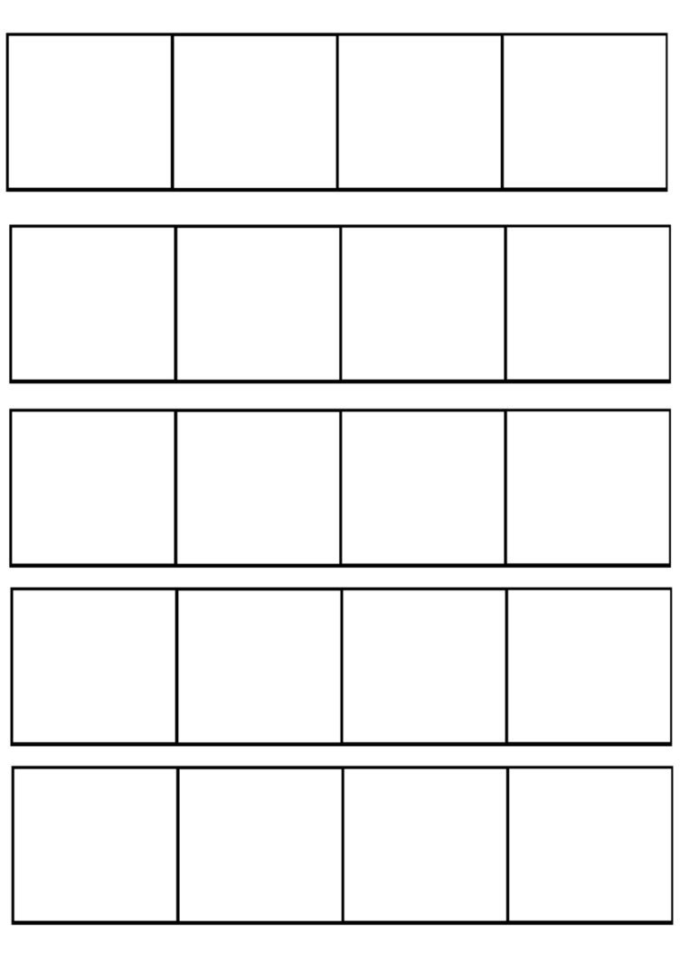 Comic Book Panel Template 4 Panel Ic Template by Redkitebait On Deviantart