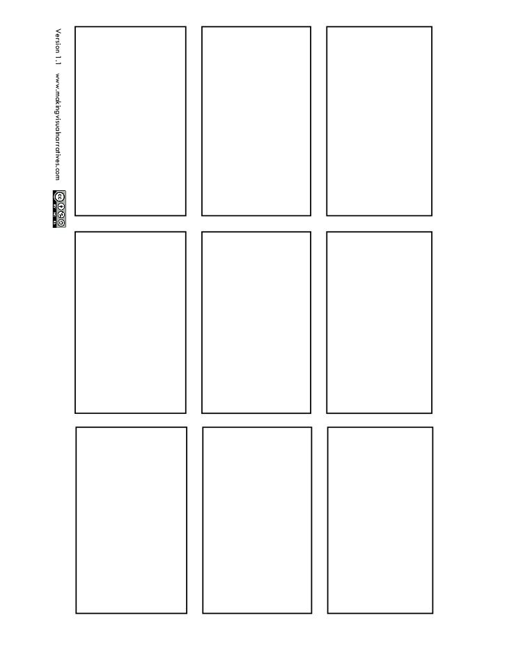 Comic Book Panel Template 9 Panel Ic Book Page