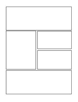 Comic Book Panel Template Blank Ic Strip Template by Sara Knigge