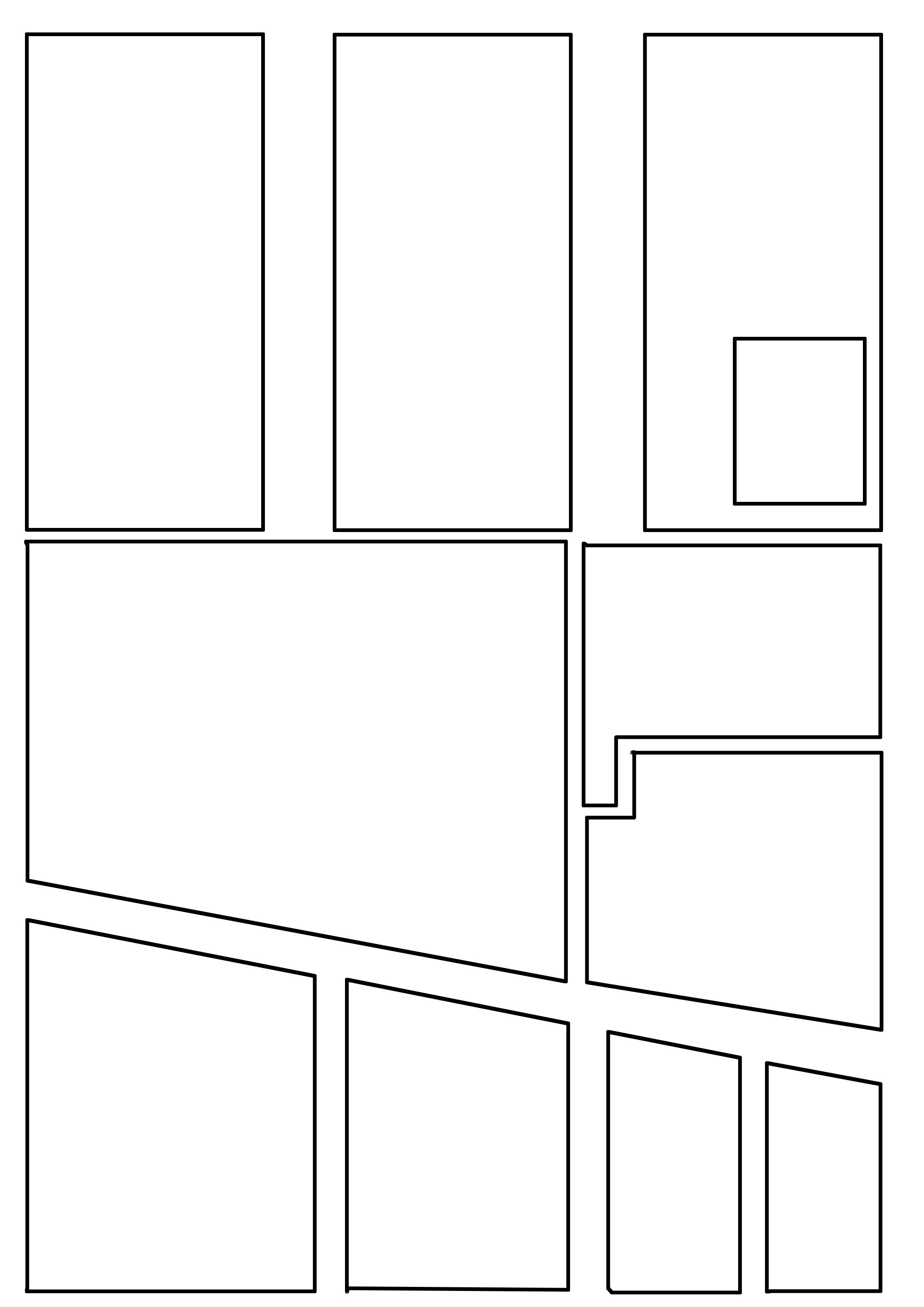 Comic Book Panel Template Ic Layout Experiments