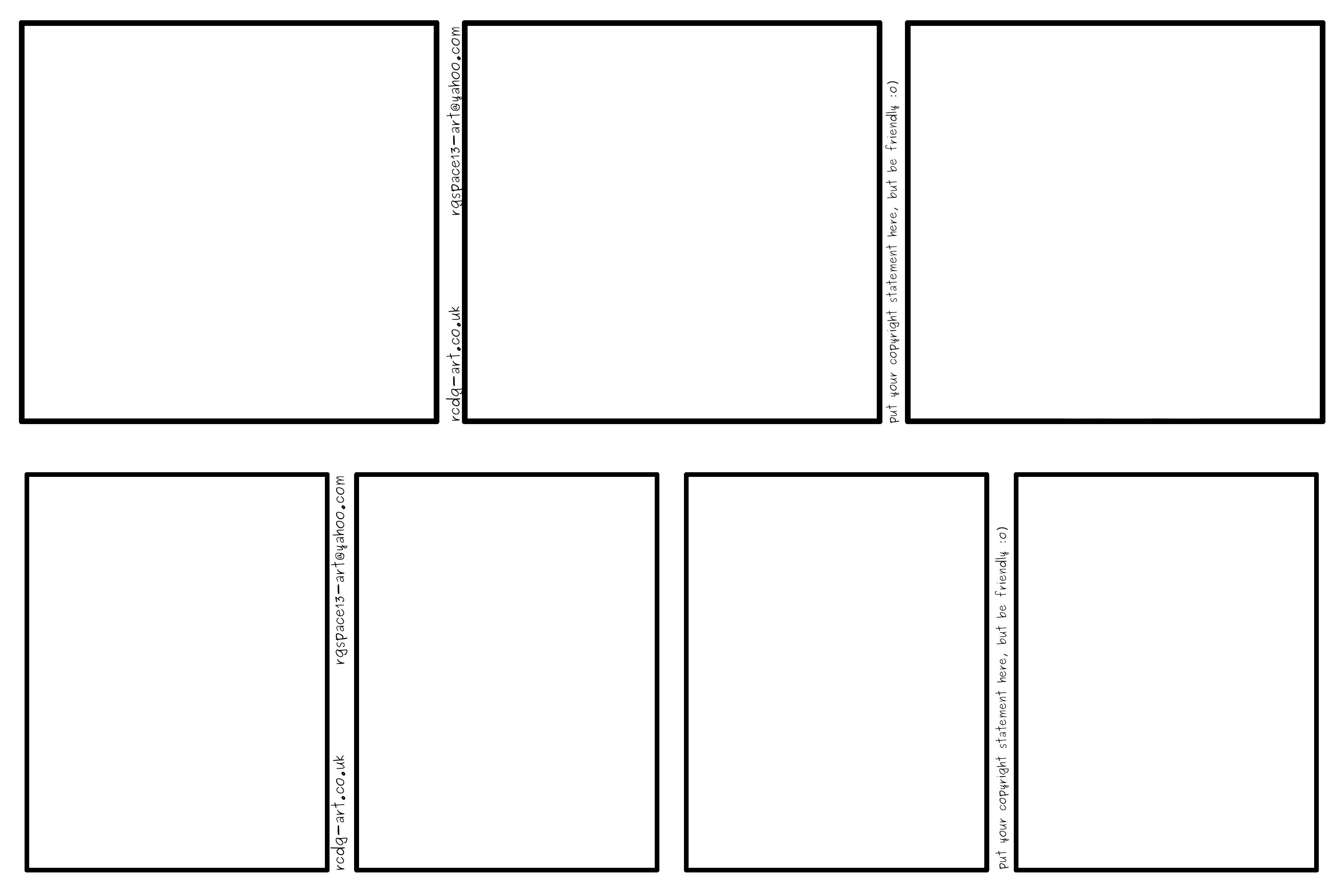 Comic Book Panel Template Ic Strip Templates 3 Panel and 4 Panel by Rcdg On