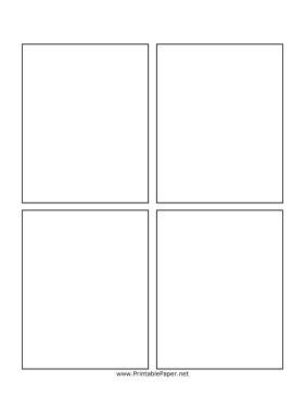 Comic Book Panel Template Printable Blank Ic Book Page