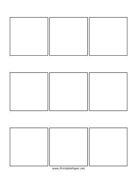 Comic Book Panel Template Printable Three Panel Ic Page