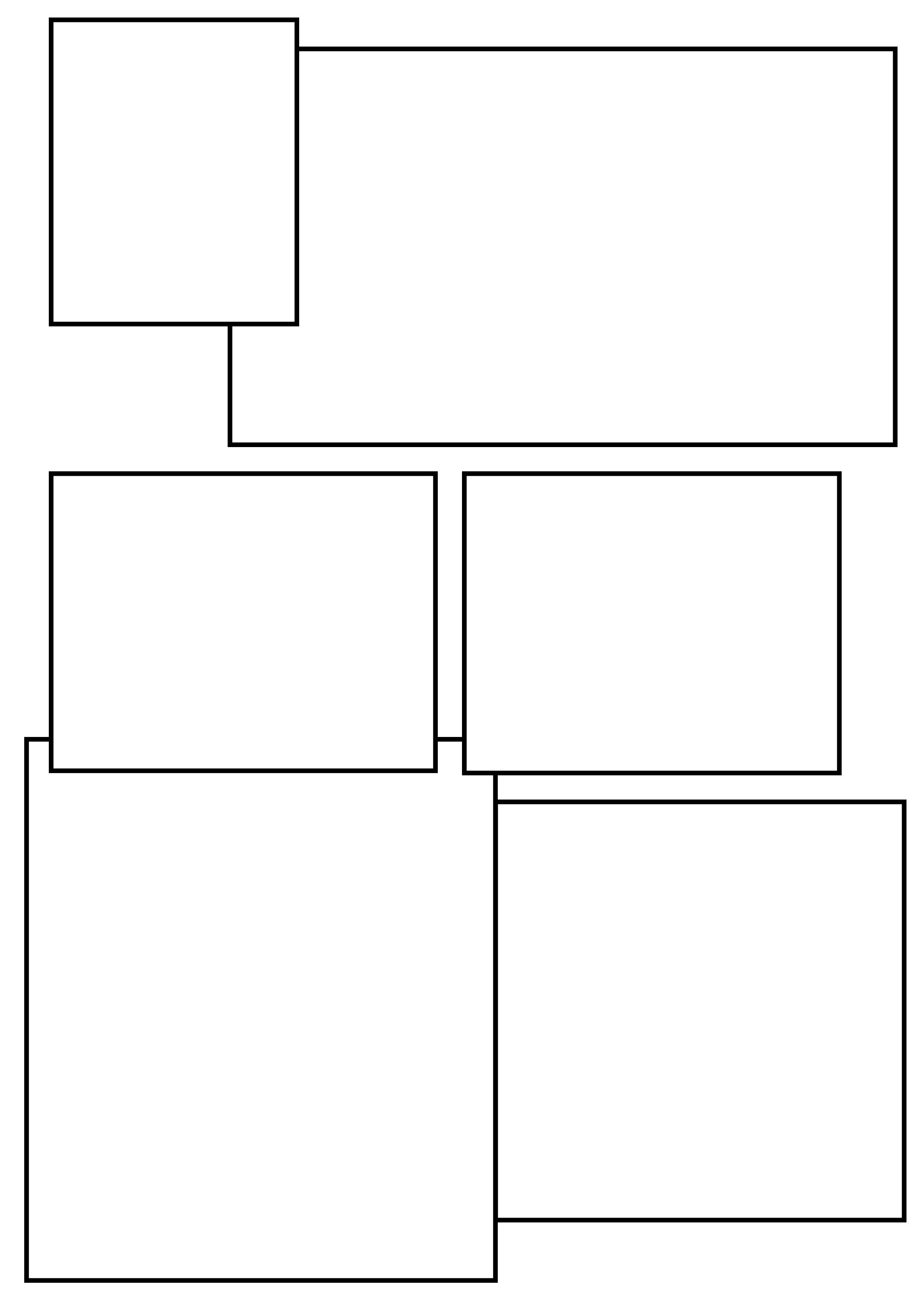 Comic Book Panel Template Setting Out Layouts for the Ic Strip