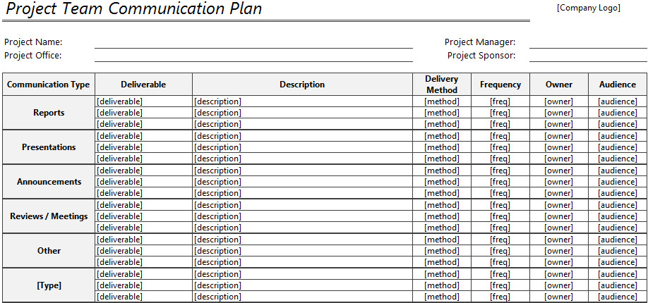 Communication Plan Template Excel Munication Plan Template for Excel