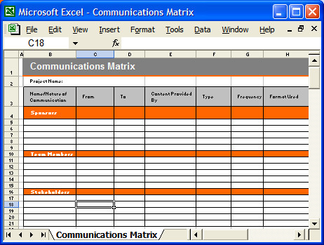 Communication Plan Template Excel Munication Plan Template Ms Word Excel – Templates