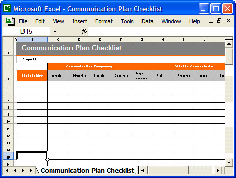munication Plan Templates – Download MS Word and Excel