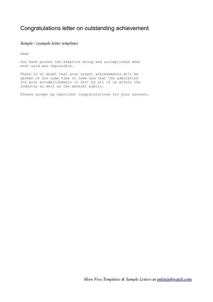 Congratulation Letter On Achievement 8 Best Images About Congratulation Letters On Pinterest