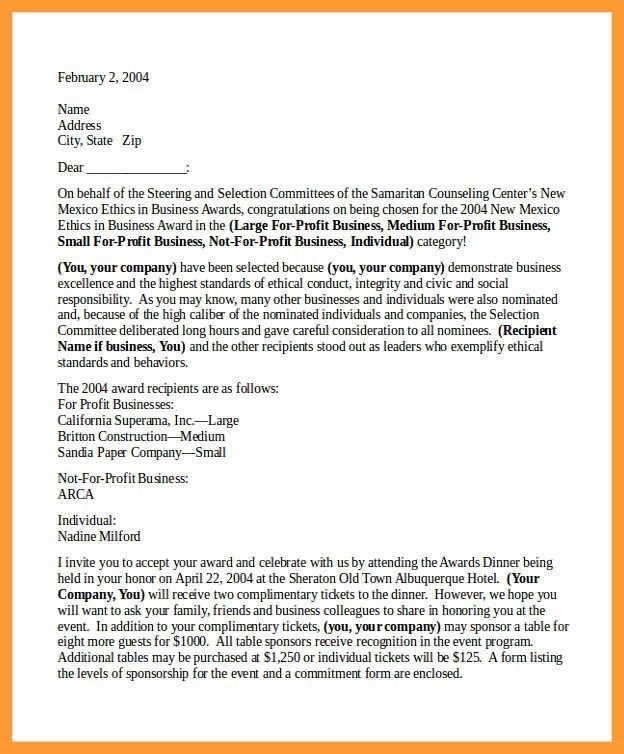 Congratulation Letter On Achievement 9 10 Congratulation Letters On Achievement