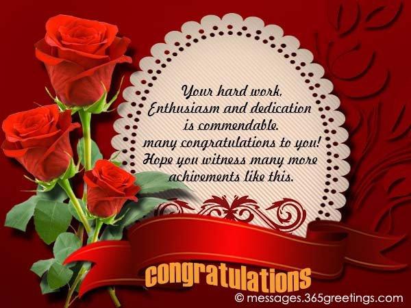 Congratulation Letter On Achievement Congratulation Messages 365greetings