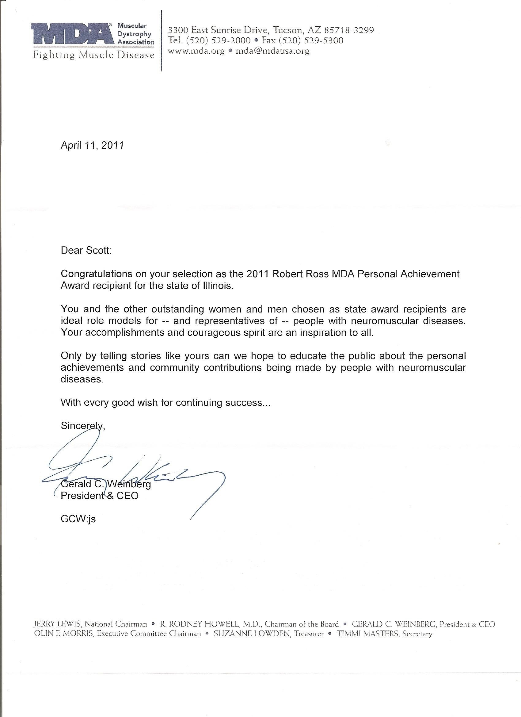 Congratulation Letter On Achievement Congratulations Letter From the President and Ceo Of the