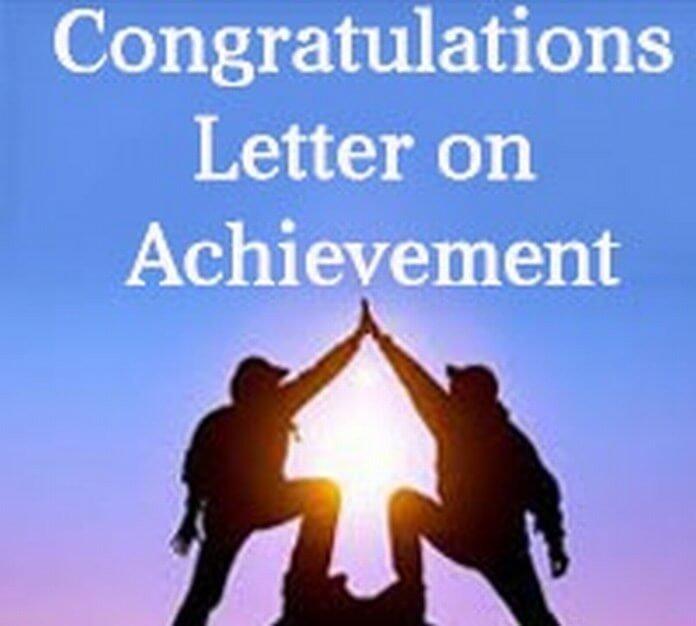 Congratulation Letter On Achievement Congratulations Letter On Achievement Free Letters