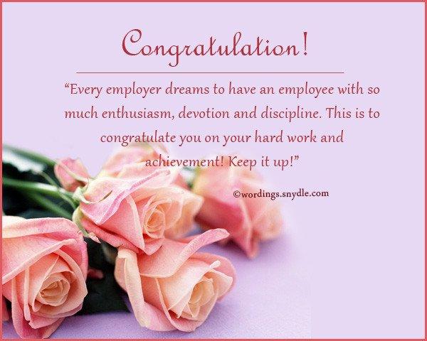 Congratulation Letter On Achievement Congratulations Messages for Achievement Wordings and