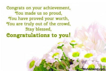Congratulation Letter On Achievement Congratulations Messages Page 2