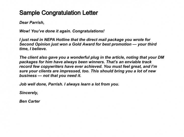 Congratulation Letter On Achievement How to Write Congratulation Letters