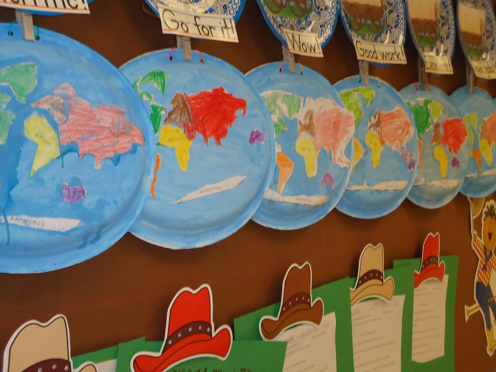 Continent Cutouts for Globe Literacy Minute Paper Plate Continents