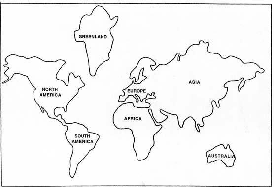 globe cut out template