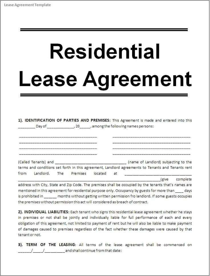 Contract Template Google Docs Sample Lease Agreement for Renting A House Google Search