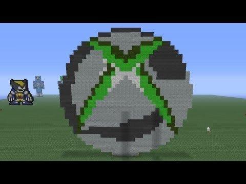 Cool Minecraft Pixel Arts Minecraft Pixel Art Xbox360 Logo Tutorial