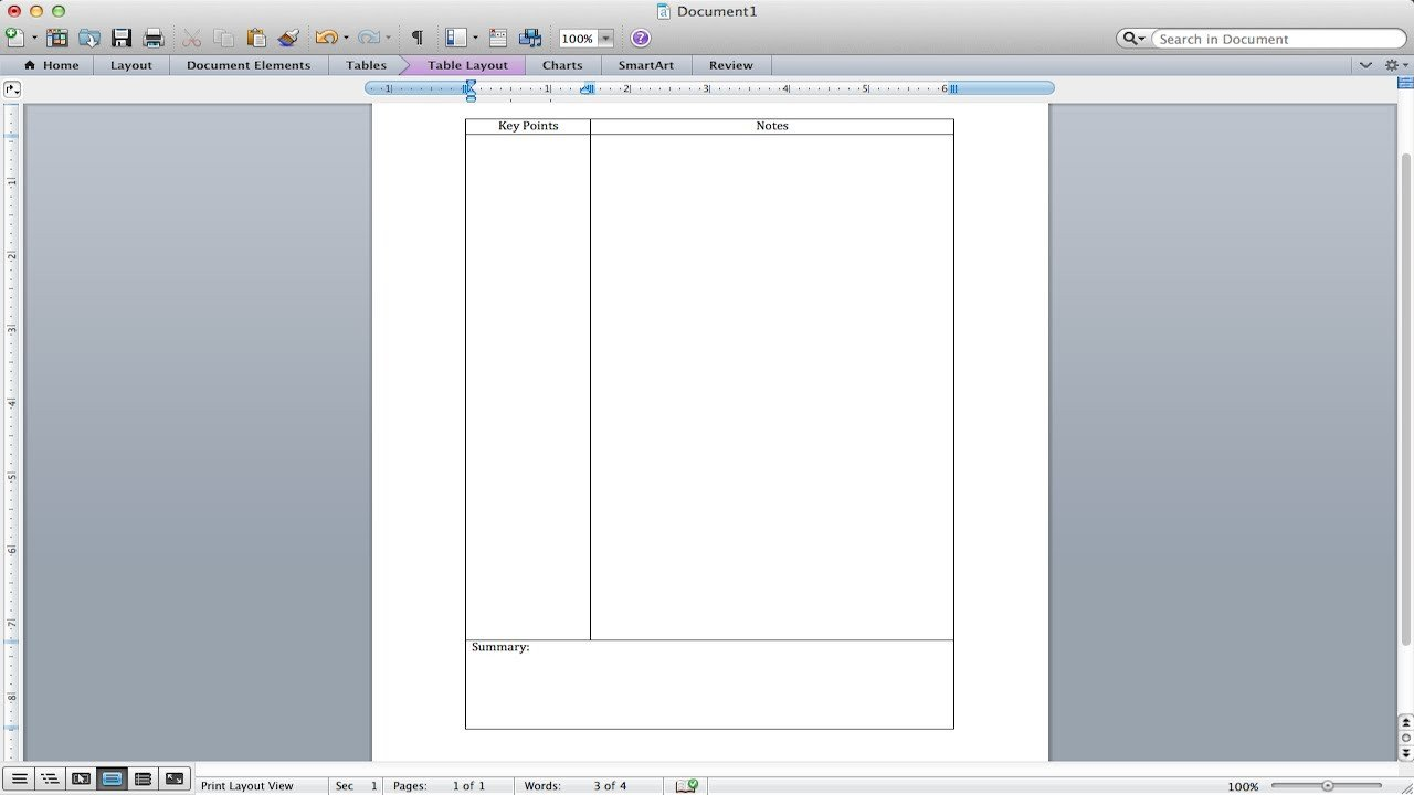 Cornell Notes Template Word Cornell Notes Tutorial How to Make A Cornell Notes