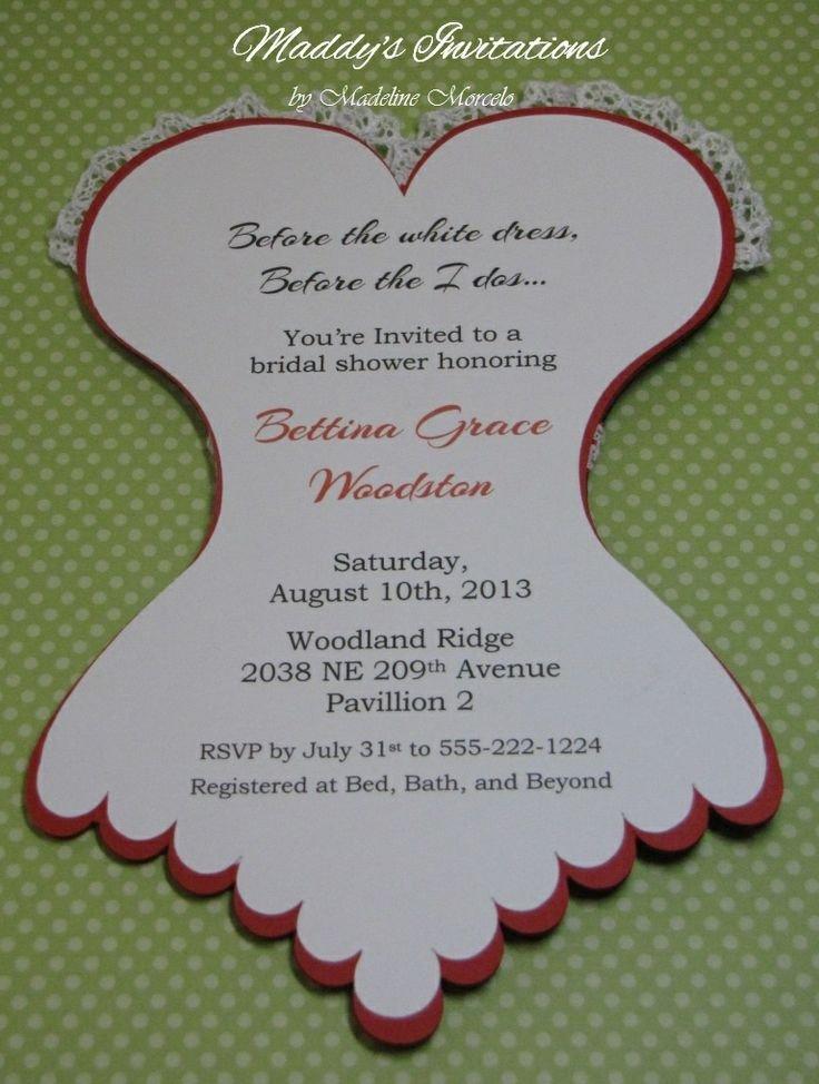Corset Invitation Template Free Corset Invitations Bridal Shower