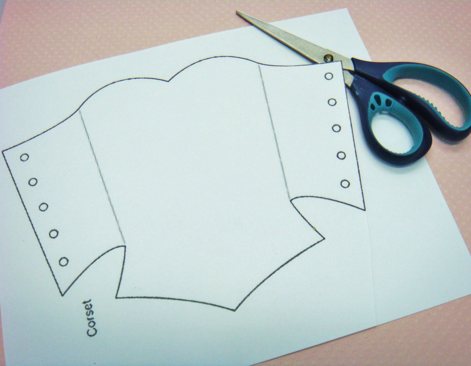 Corset Invitation Template Free Corset Template Doll Tutorials Sewing