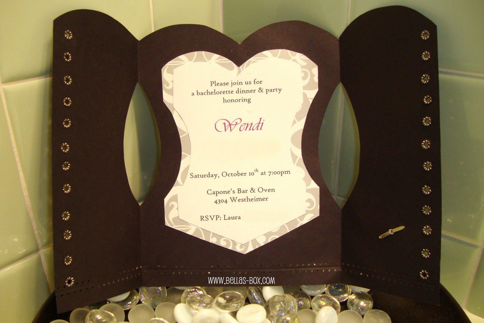 Corset Invitation Template Free Diy Corset Invitations Template
