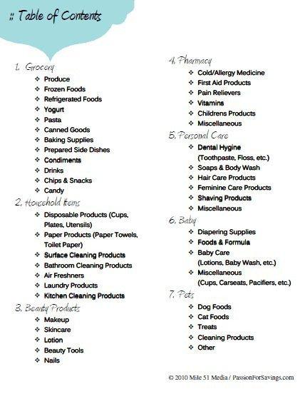 Coupon Binder Categories Template Coupon Binder Category Sheets I M Redoing My Coupon