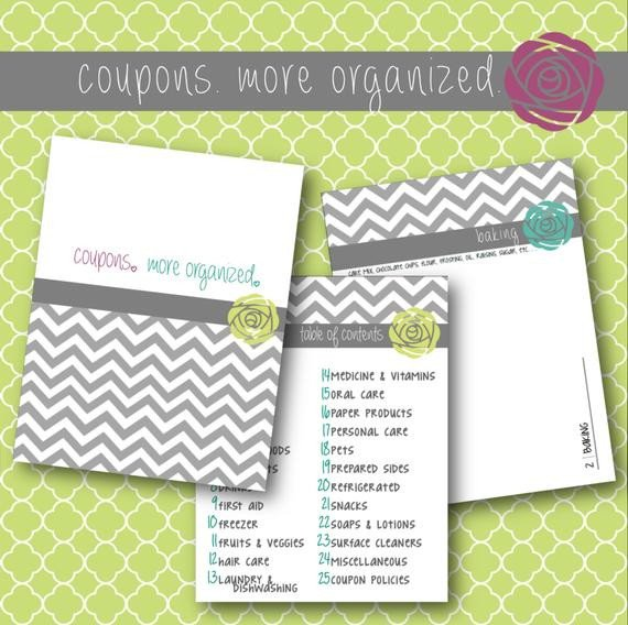 Coupon Binder Categories Template Unavailable Listing On Etsy