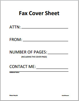 Cover Sheet Template Word 6 Fax Cover Sheet Templates Excel Pdf formats