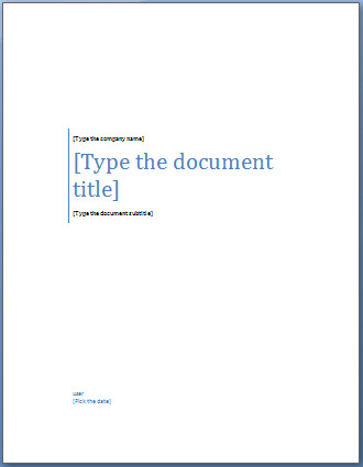 Cover Sheet Template Word Add A Cover Page to A Word Document