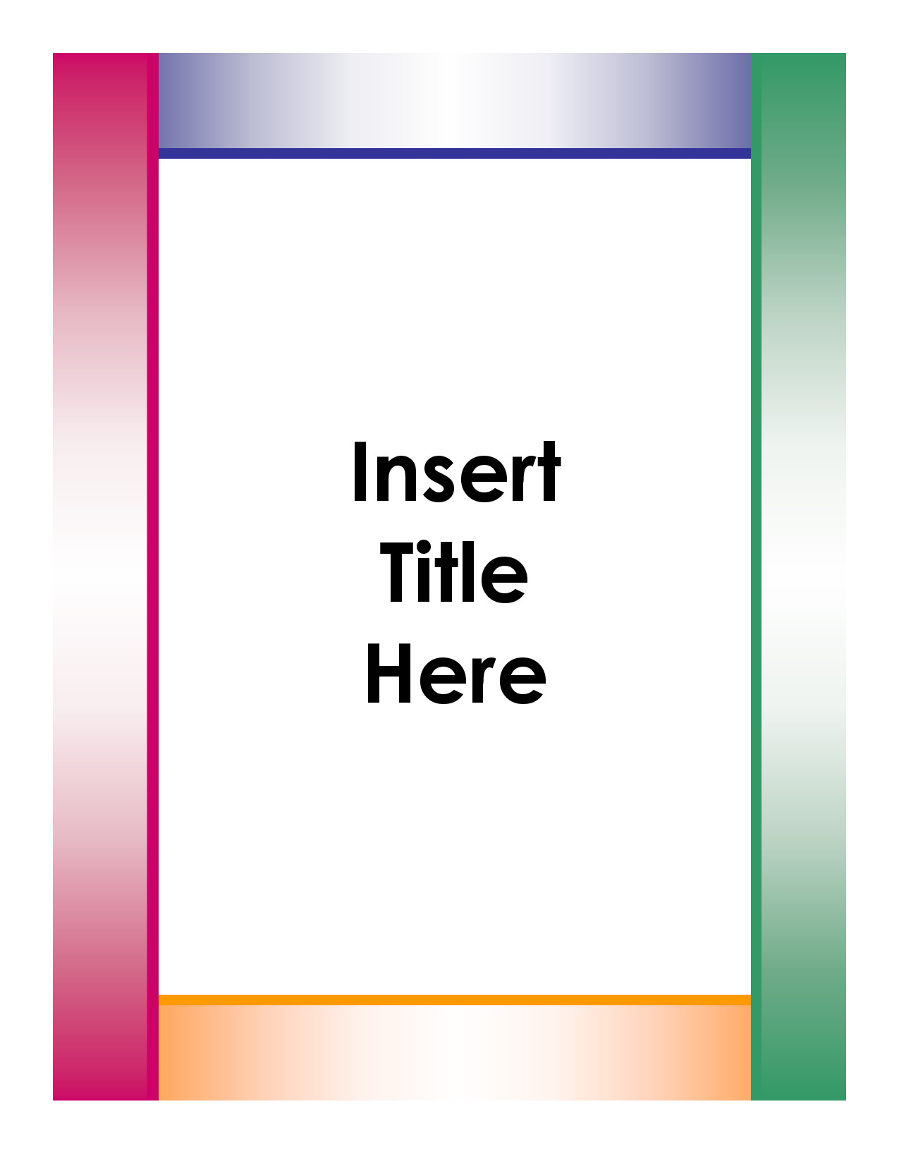 Cover Sheet Template Word Cover Page Template