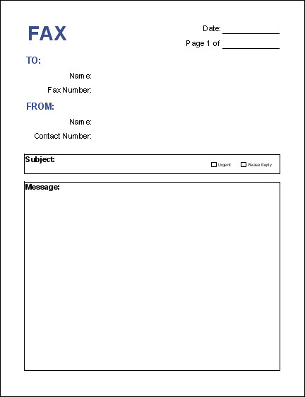 Cover Sheet Template Word Free Fax Cover Sheet Template Download
