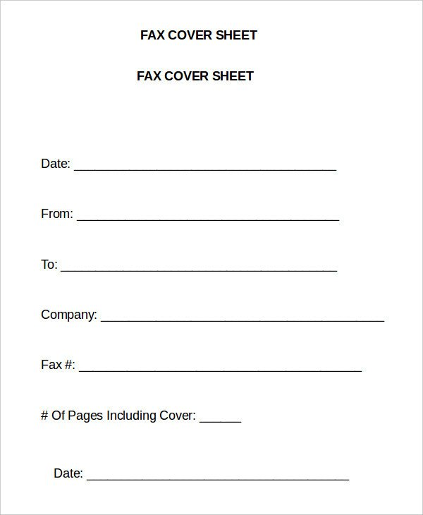 Cover Sheet Template Word Word Fax Template 12 Free Word Documents Download