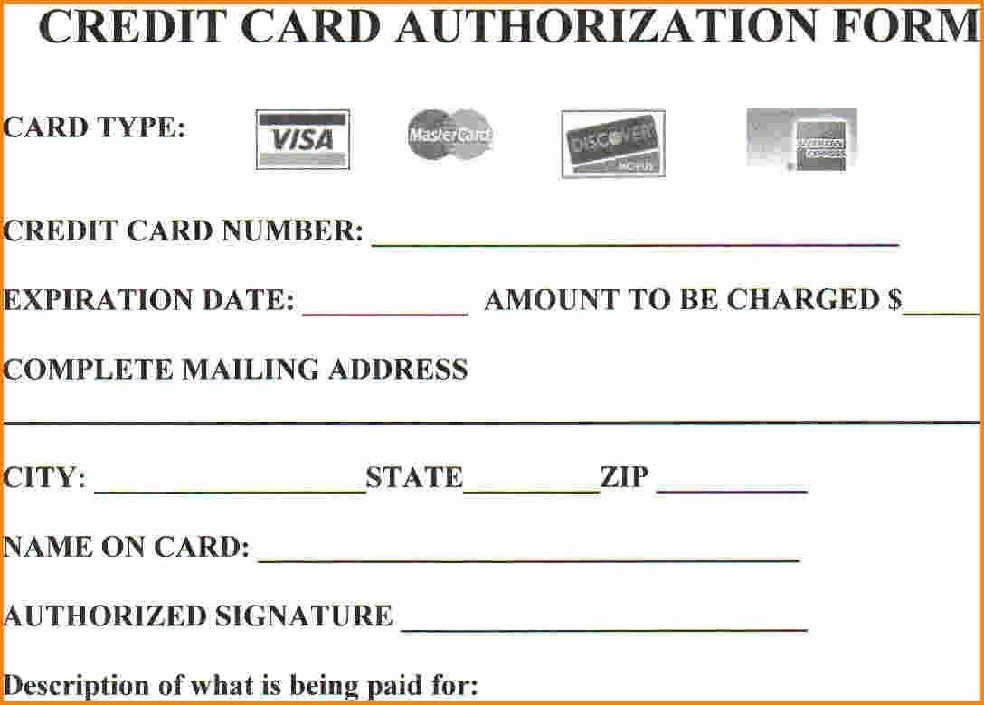 Credit Card Authorization Template 25 Credit Card Authorization form Template Free Download