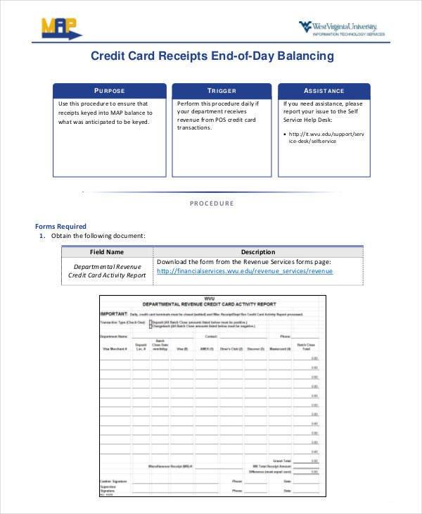 Credit Card Receipt Template 7 Credit Card Receipt Templates – Pdf